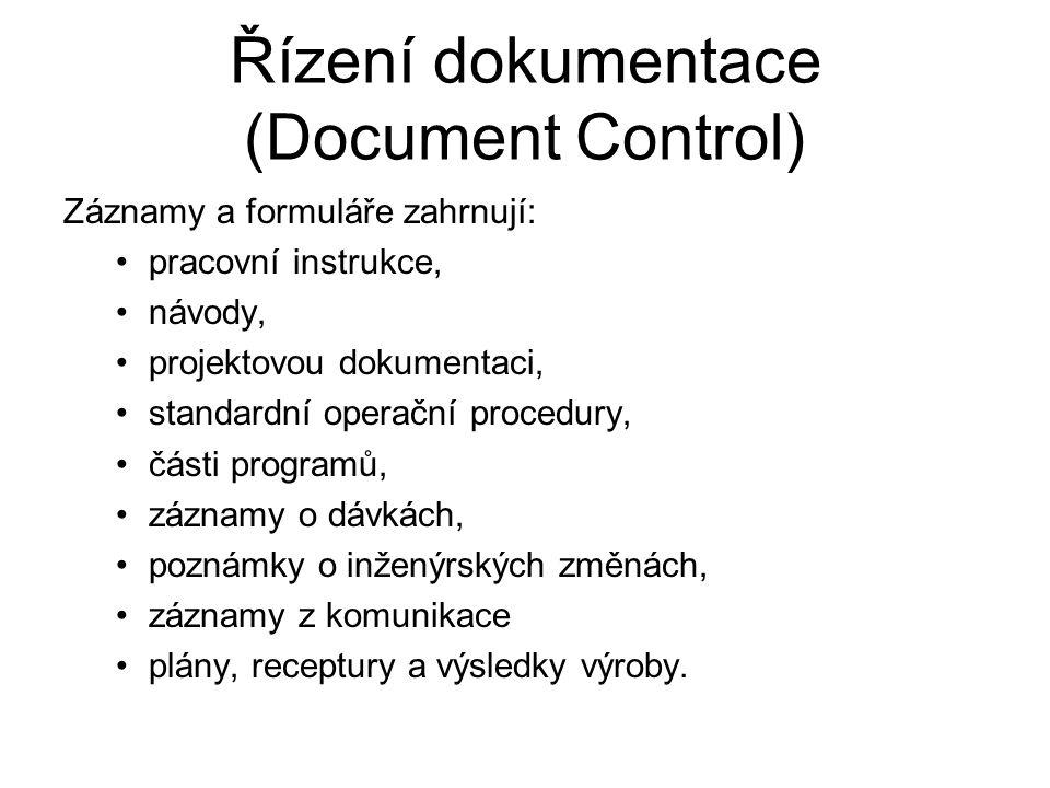 Řízení dokumentace (Document Control)