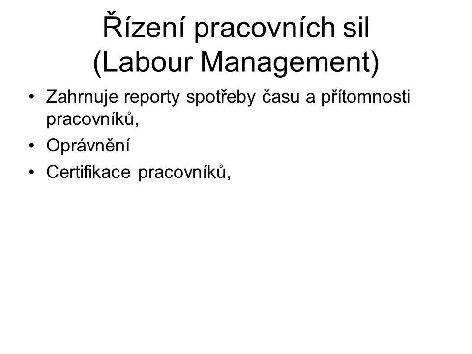Řízení pracovních sil (Labour Management)