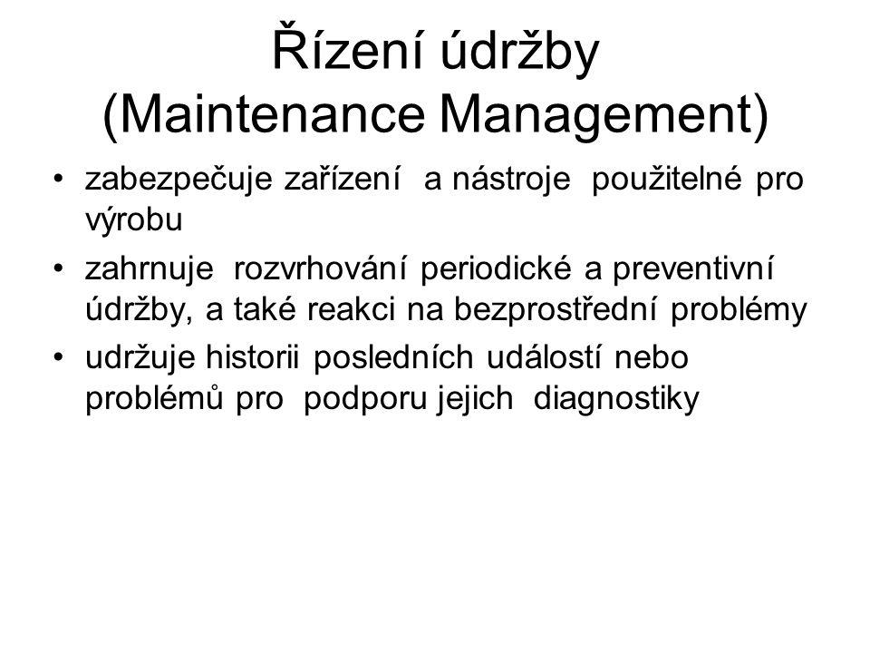 Řízení údržby (Maintenance Management)
