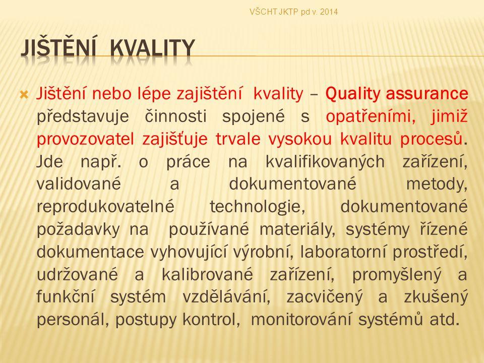 VŠCHT JKTP pd v. 2014 Jištění kvality.