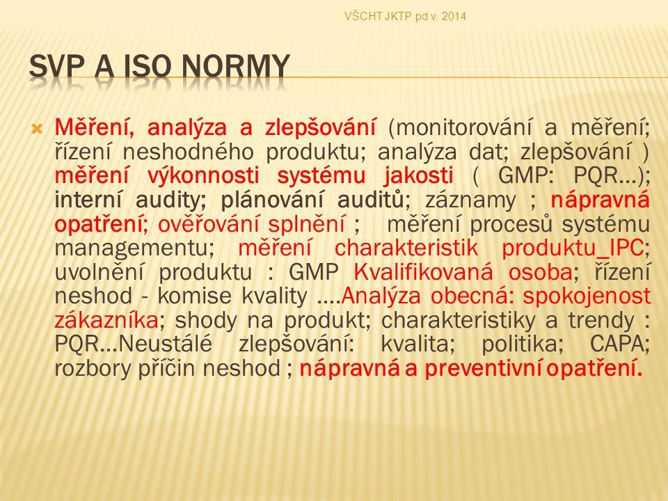VŠCHT JKTP pd v. 2014 SVP A ISO Normy.