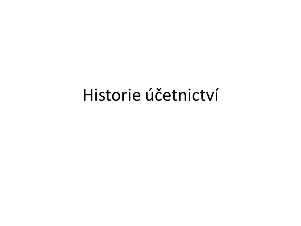 Historie účetnictví