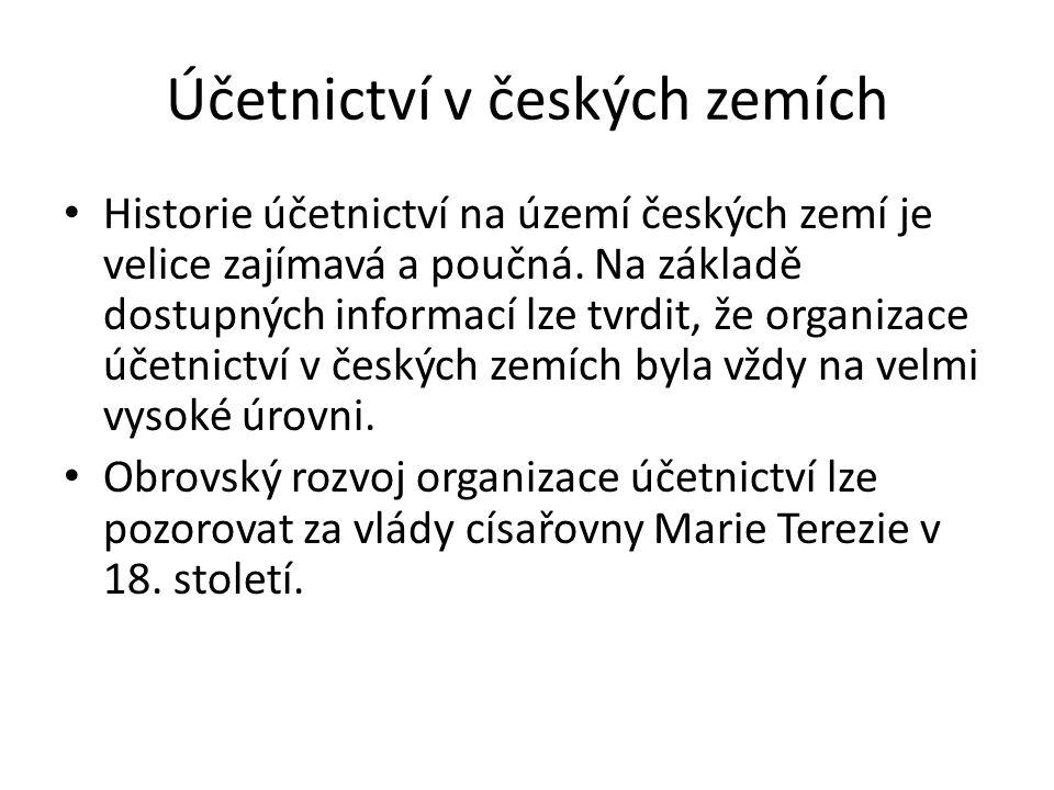 Účetnictví v českých zemích