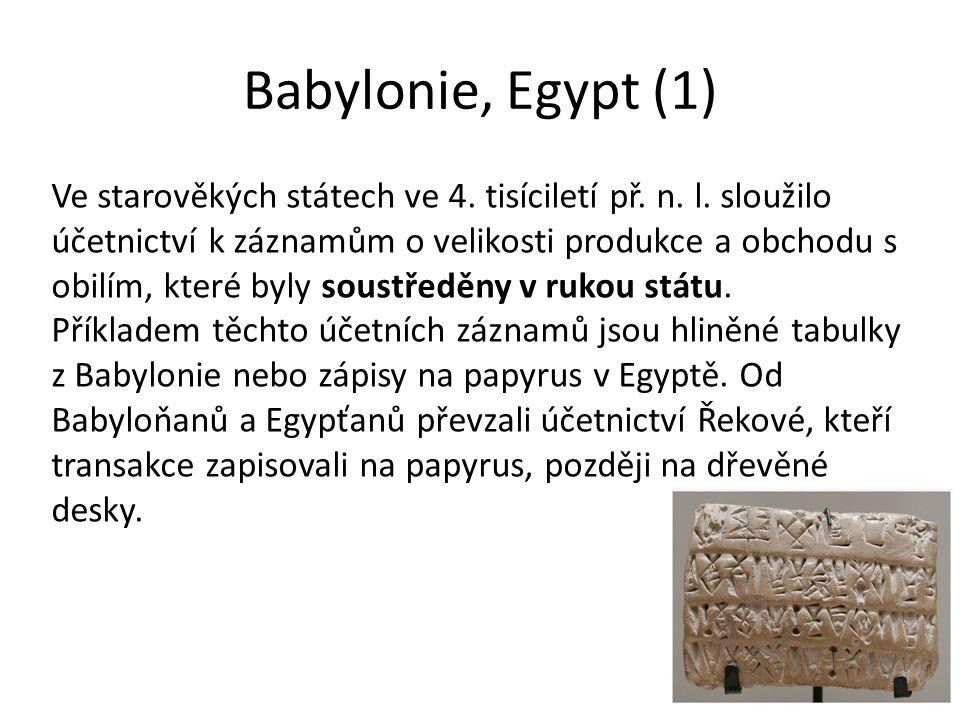 Babylonie, Egypt (1)