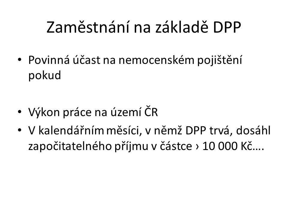 Zaměstnání na základě DPP