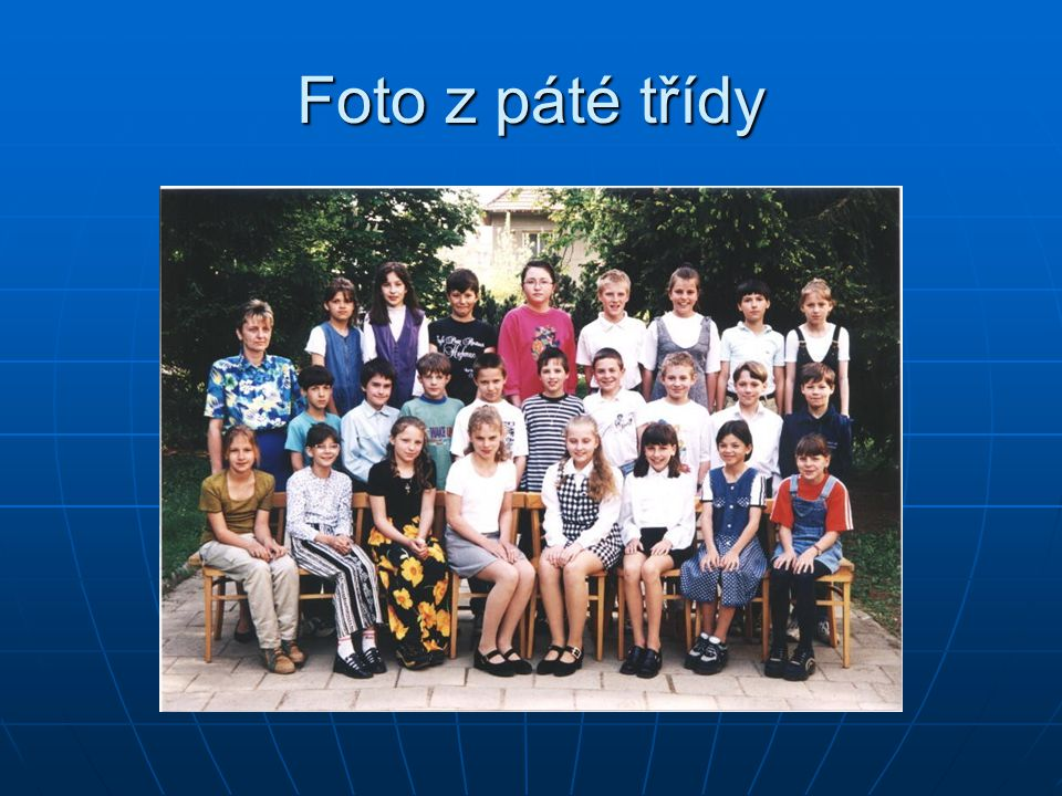 Foto z páté třídy