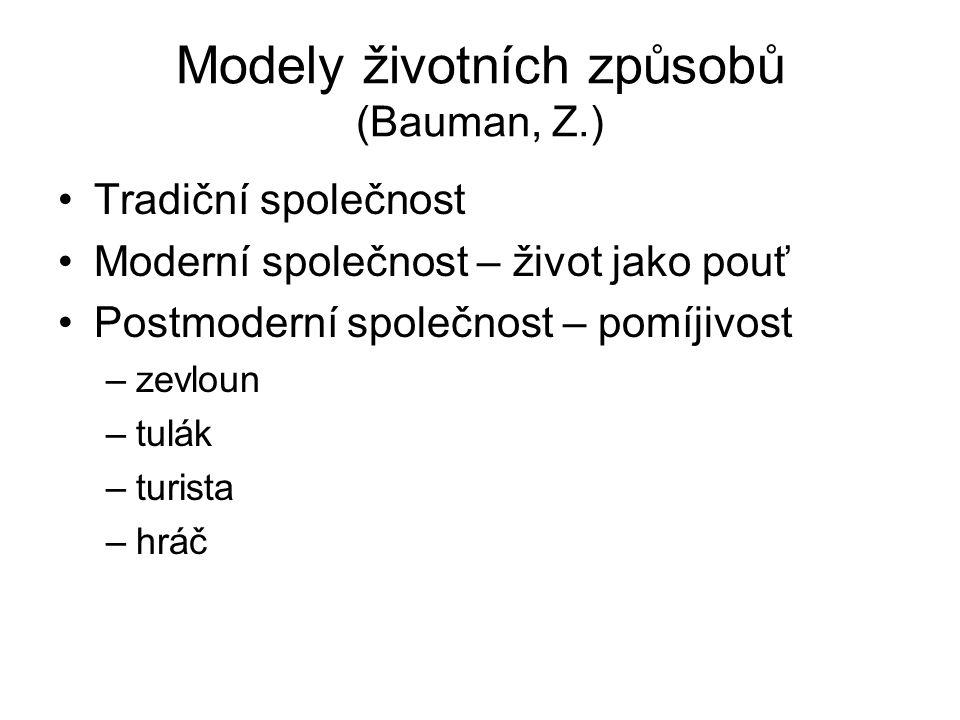 Modely životních způsobů (Bauman, Z.)