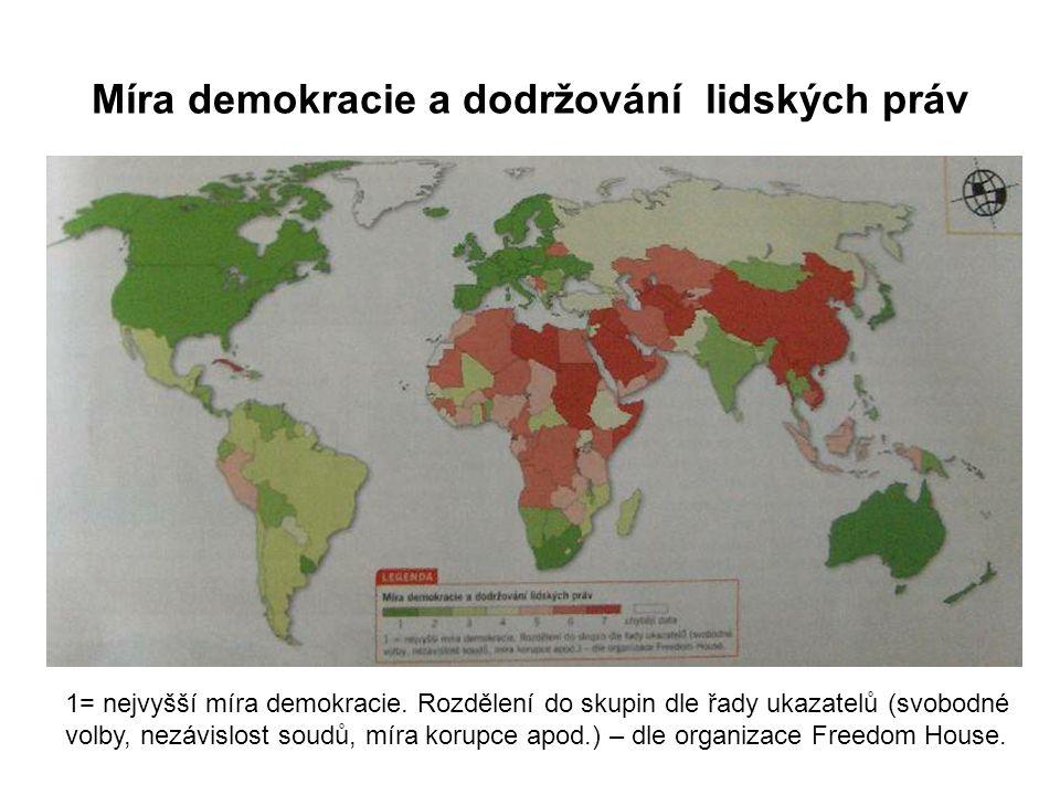 Míra demokracie a dodržování lidských práv