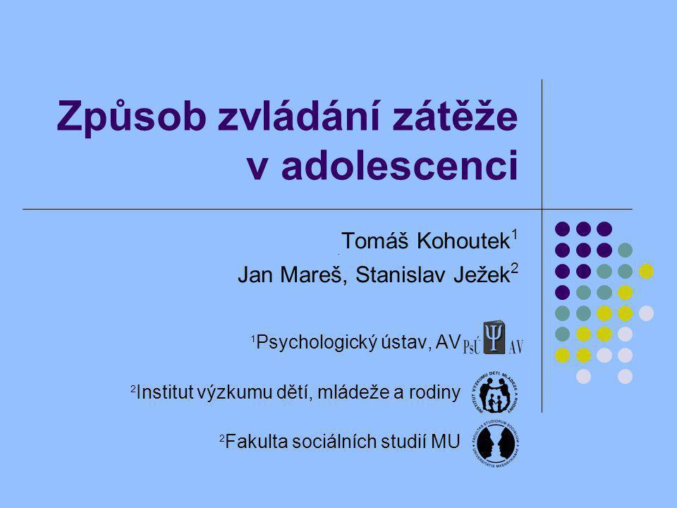 Způsob zvládání zátěže v adolescenci