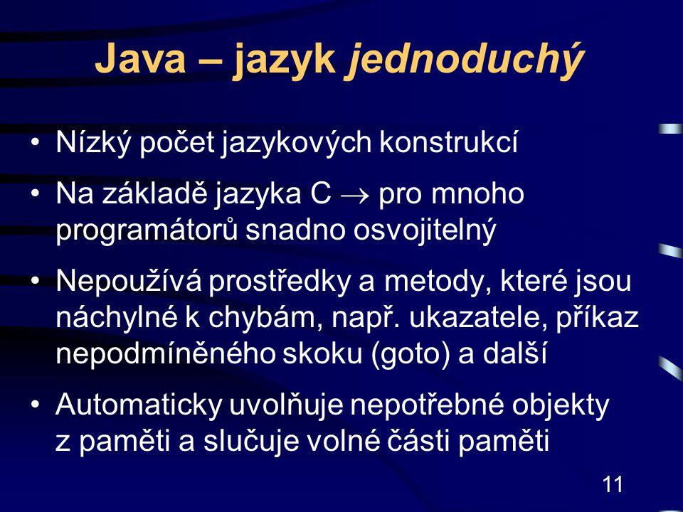 Java – jazyk jednoduchý