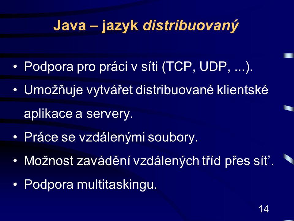Java – jazyk distribuovaný