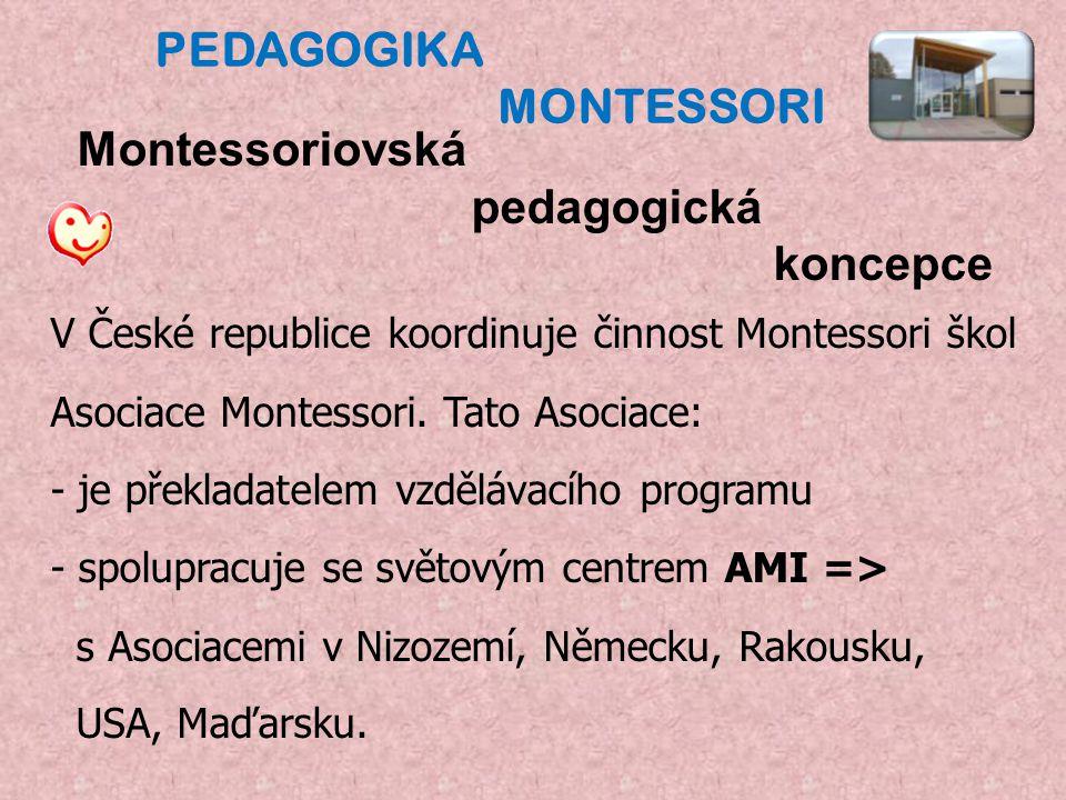 Pedagogika montessori Montessoriovská pedagogická koncepce