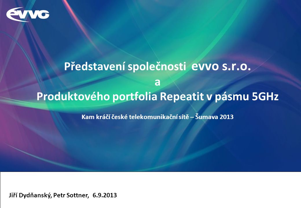 Představení společnosti evvo s. r. o