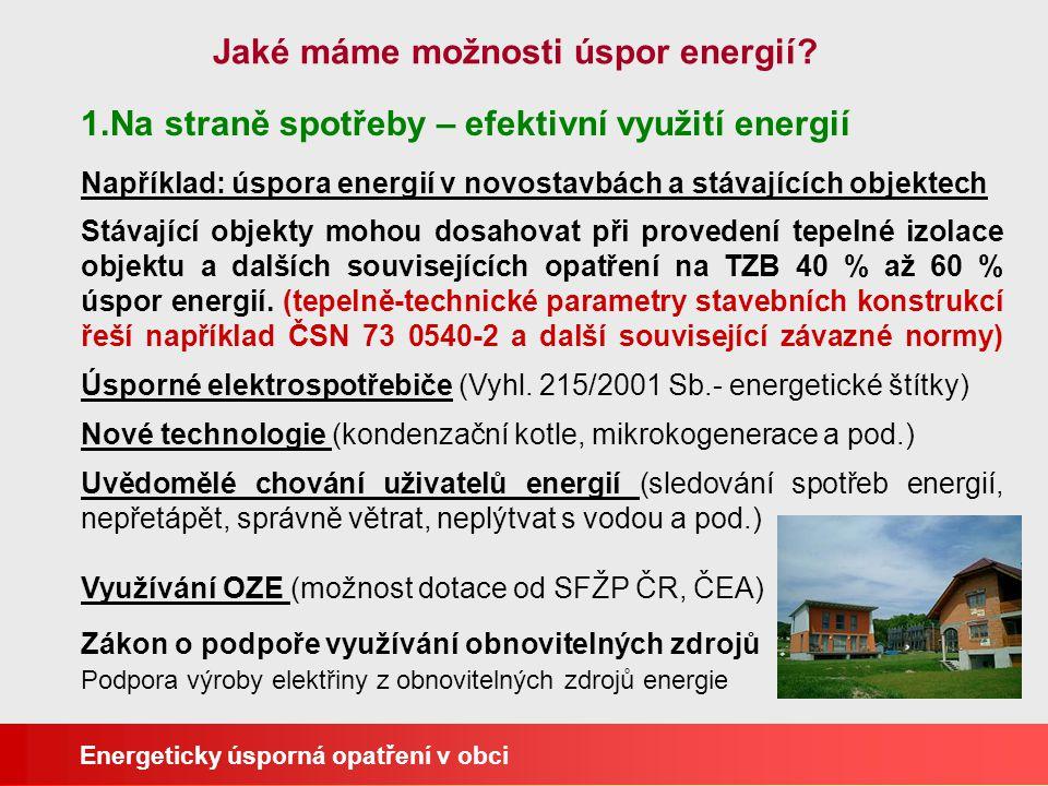 Jaké máme možnosti úspor energií