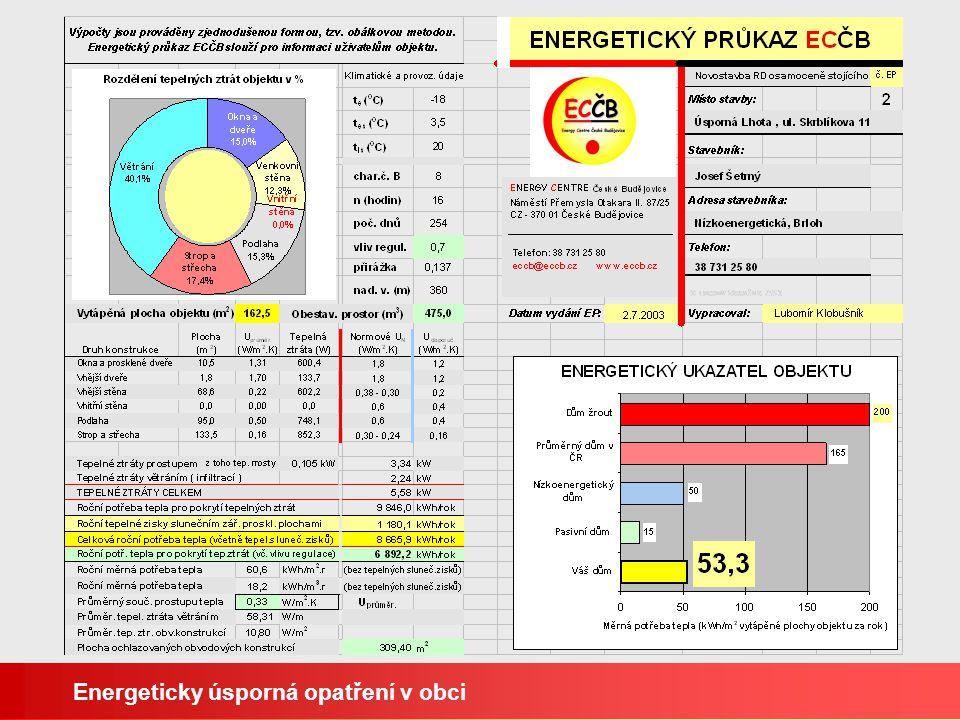 Energeticky úsporná opatření v obci