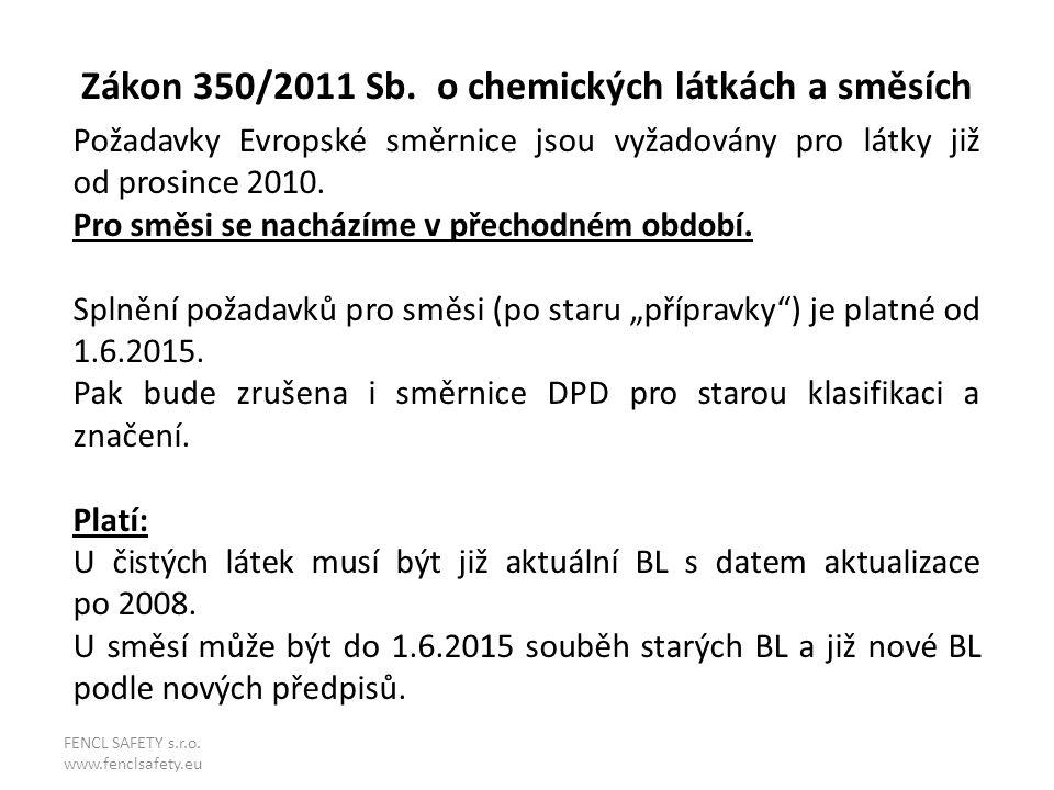 Zákon 350/2011 Sb. o chemických látkách a směsích