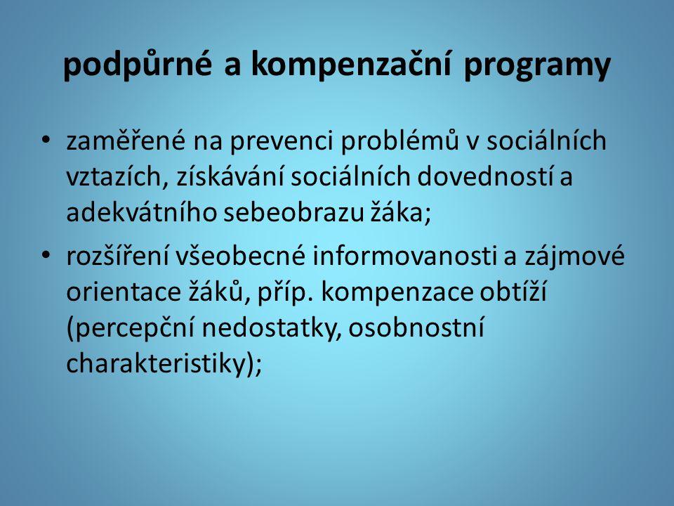 podpůrné a kompenzační programy