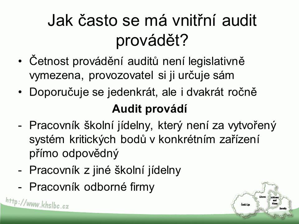 Jak často se má vnitřní audit provádět