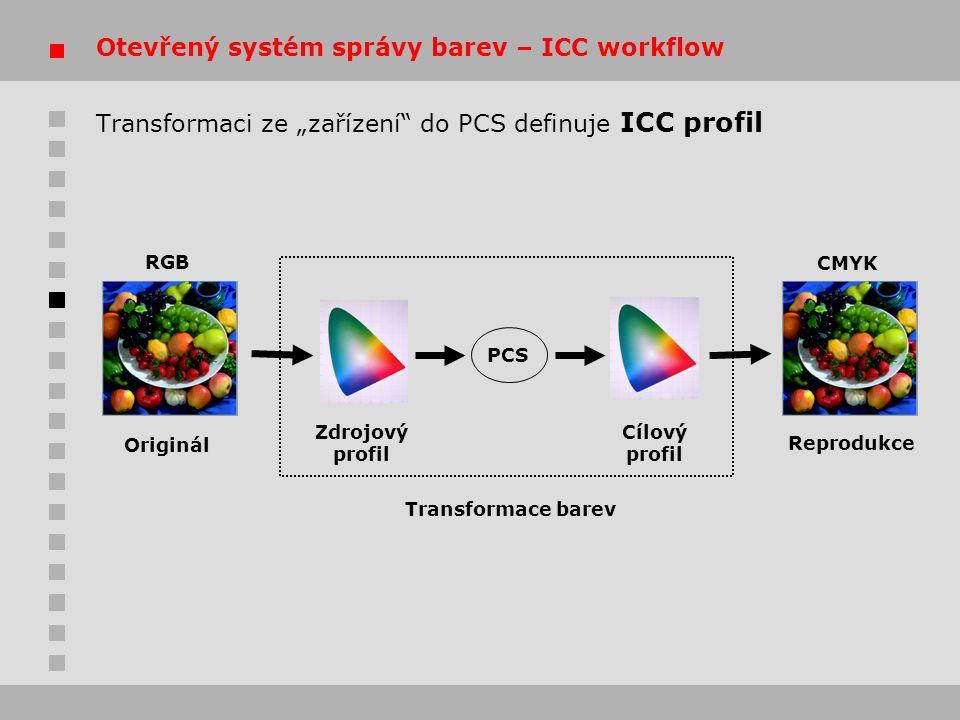 Otevřený systém správy barev – ICC workflow