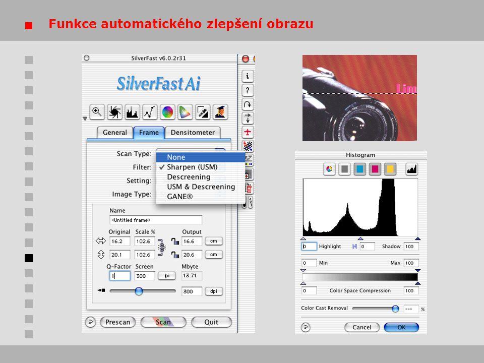 Funkce automatického zlepšení obrazu