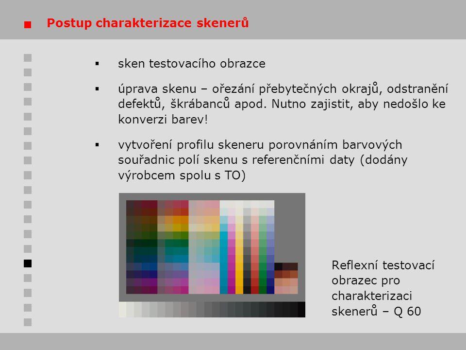 Postup charakterizace skenerů