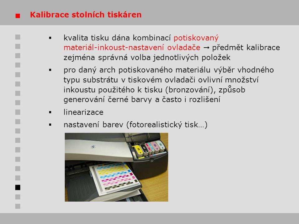Kalibrace stolních tiskáren
