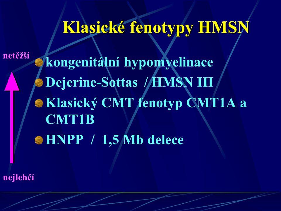 Klasické fenotypy HMSN