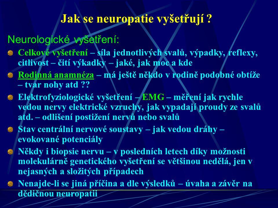 Jak se neuropatie vyšetřují