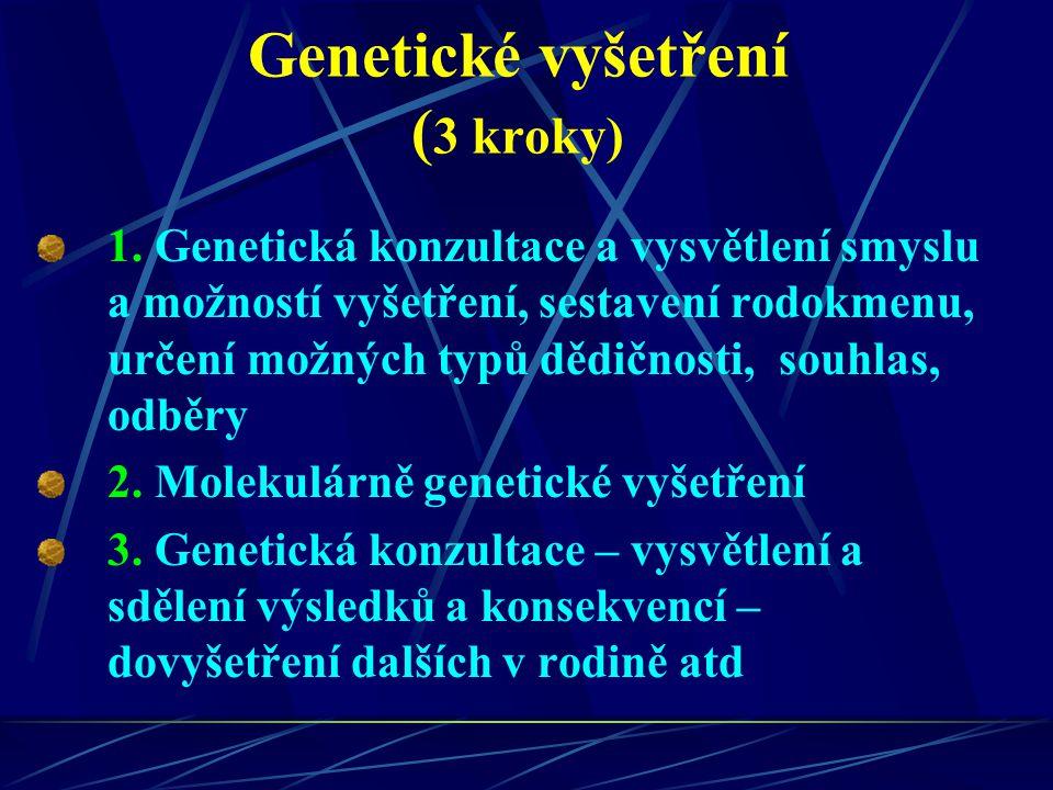 Genetické vyšetření (3 kroky)