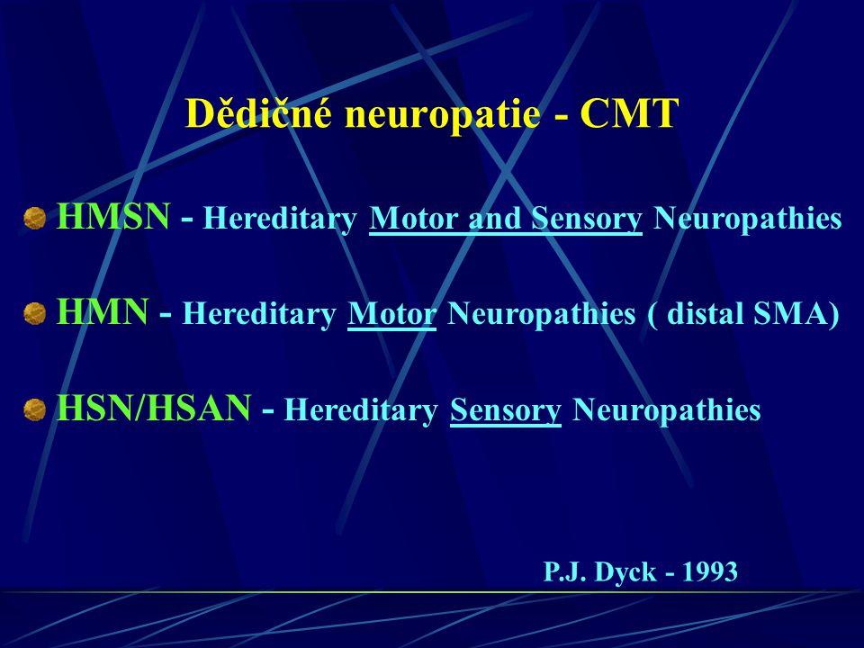 Dědičné neuropatie - CMT