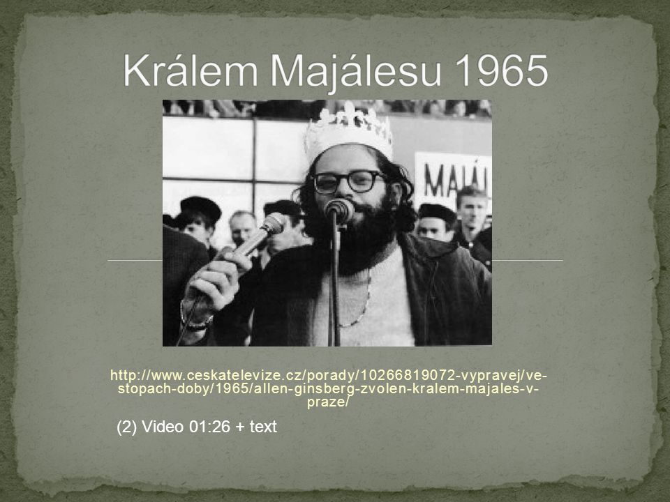 Králem Majálesu 1965 (2) Video 01:26 + text