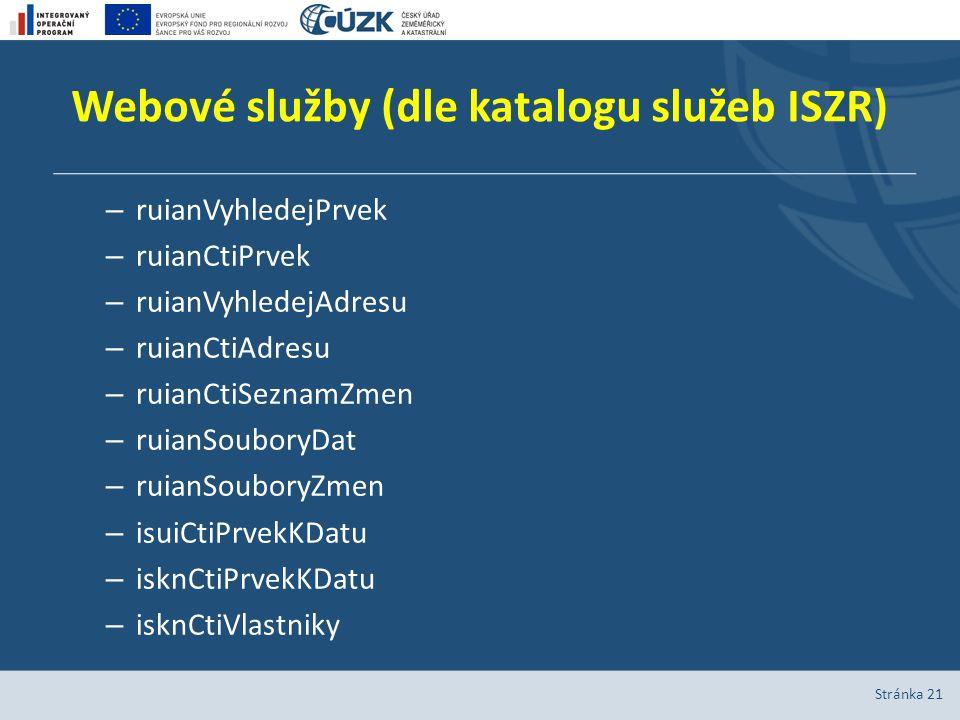 Webové služby (dle katalogu služeb ISZR)