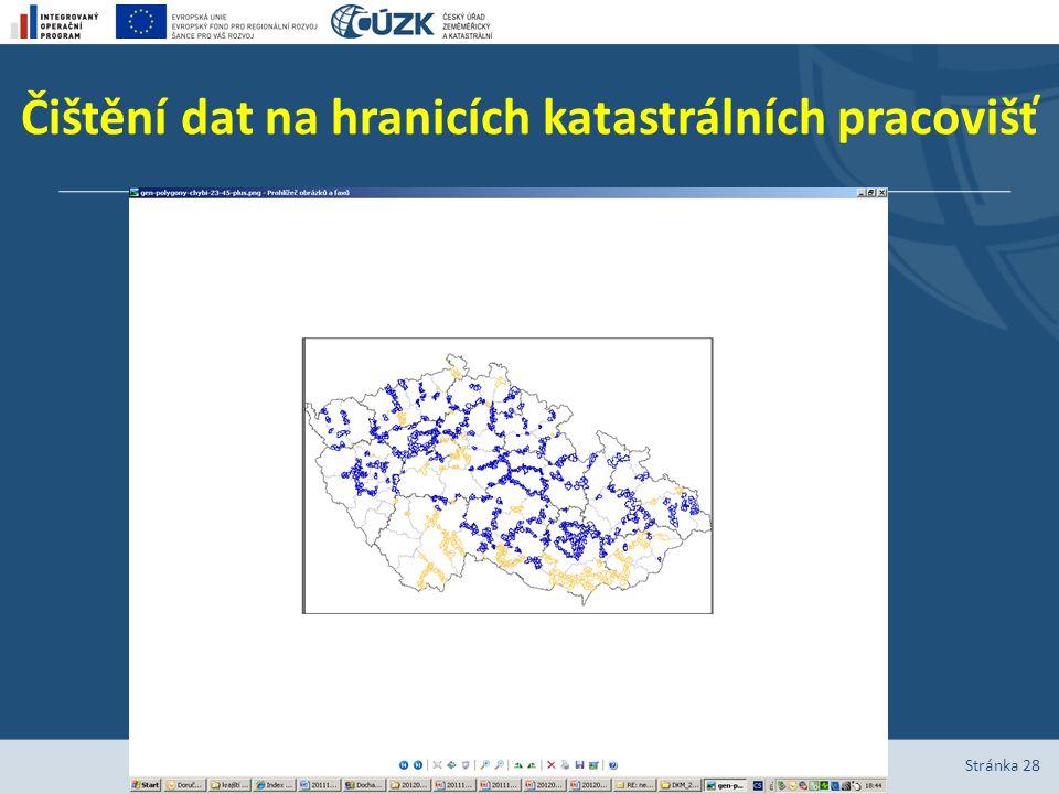 Čištění dat na hranicích katastrálních pracovišť