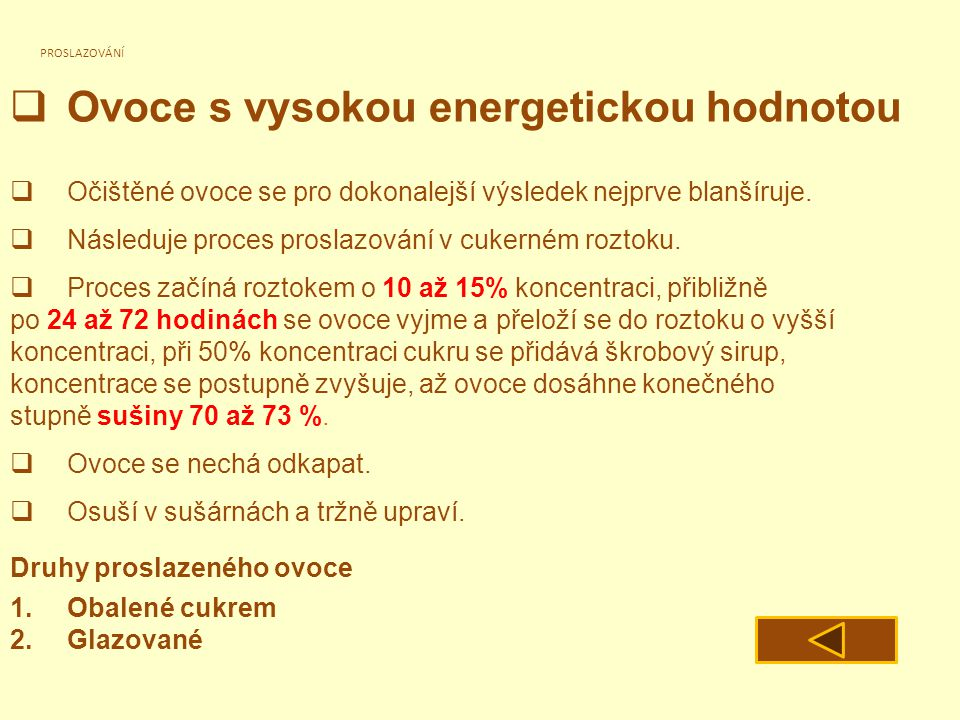 Ovoce s vysokou energetickou hodnotou