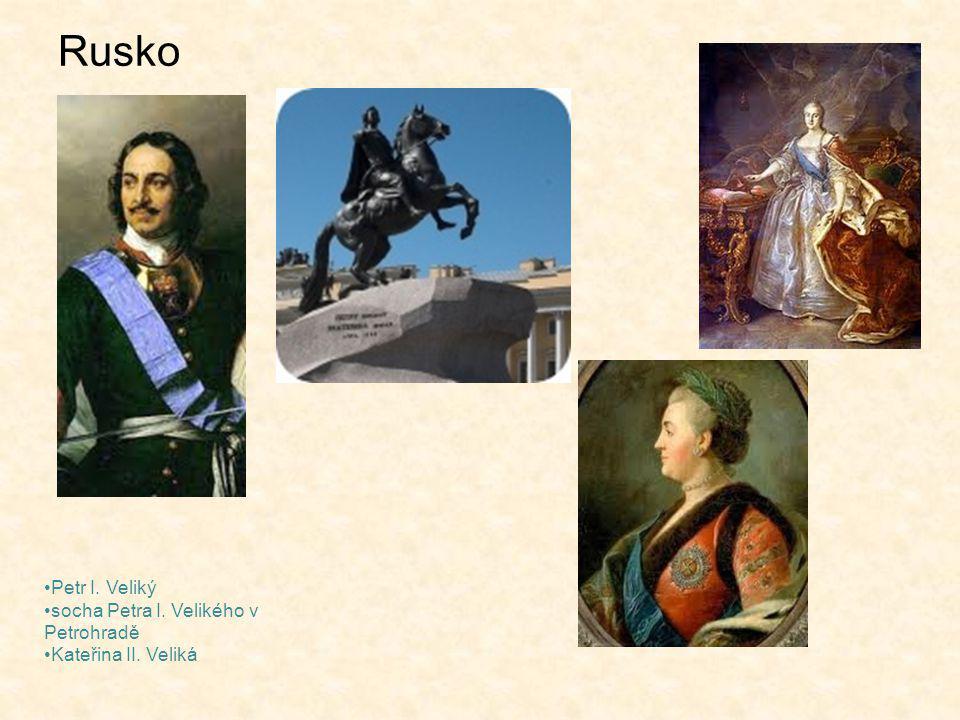 Rusko Petr I. Veliký socha Petra I. Velikého v Petrohradě