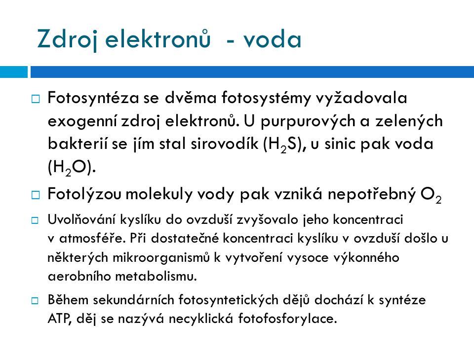 Zdroj elektronů - voda