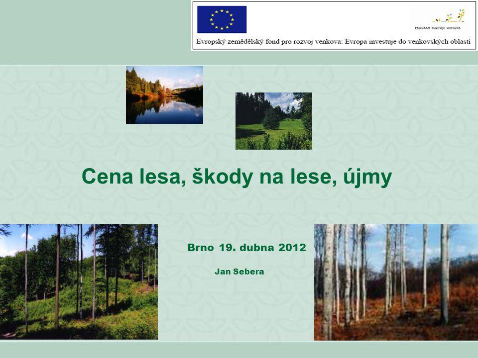 Cena lesa, škody na lese, újmy