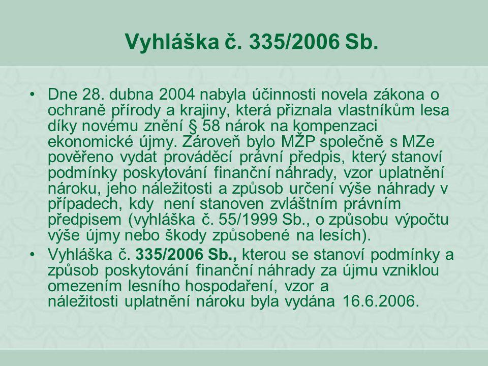 Vyhláška č. 335/2006 Sb.