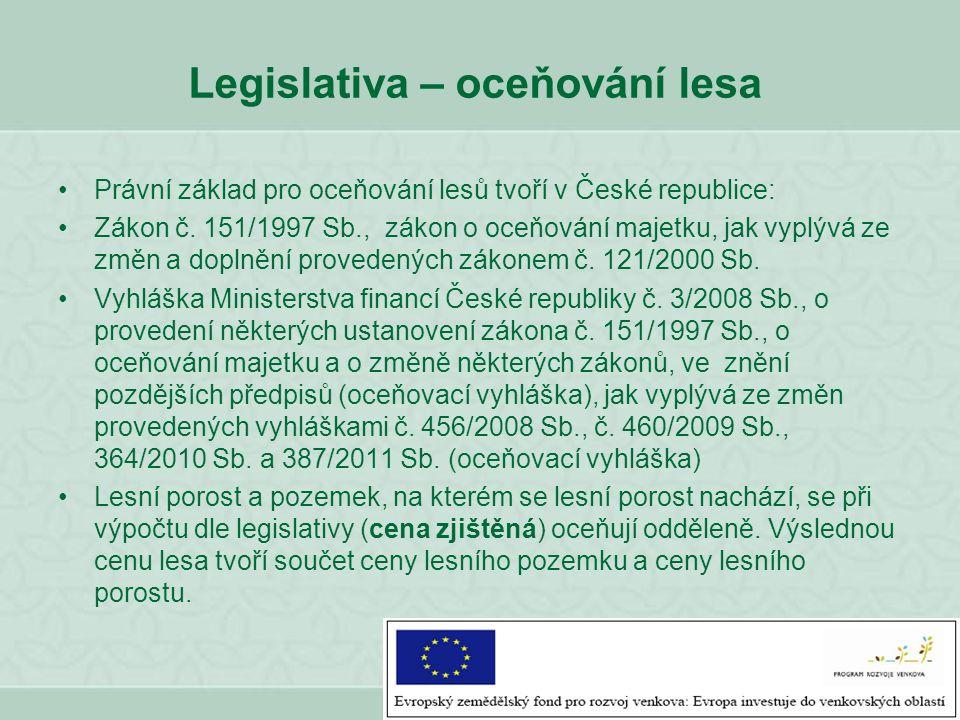 Legislativa – oceňování lesa