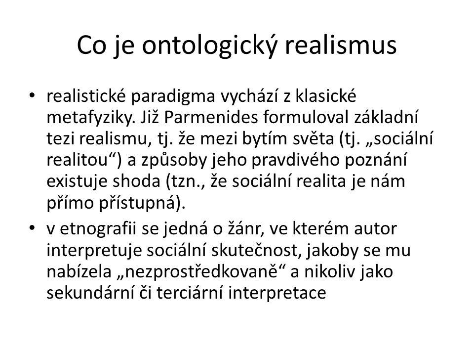 Co je ontologický realismus