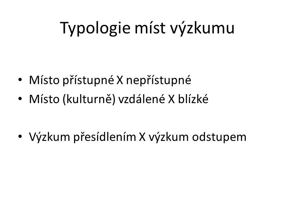 Typologie míst výzkumu