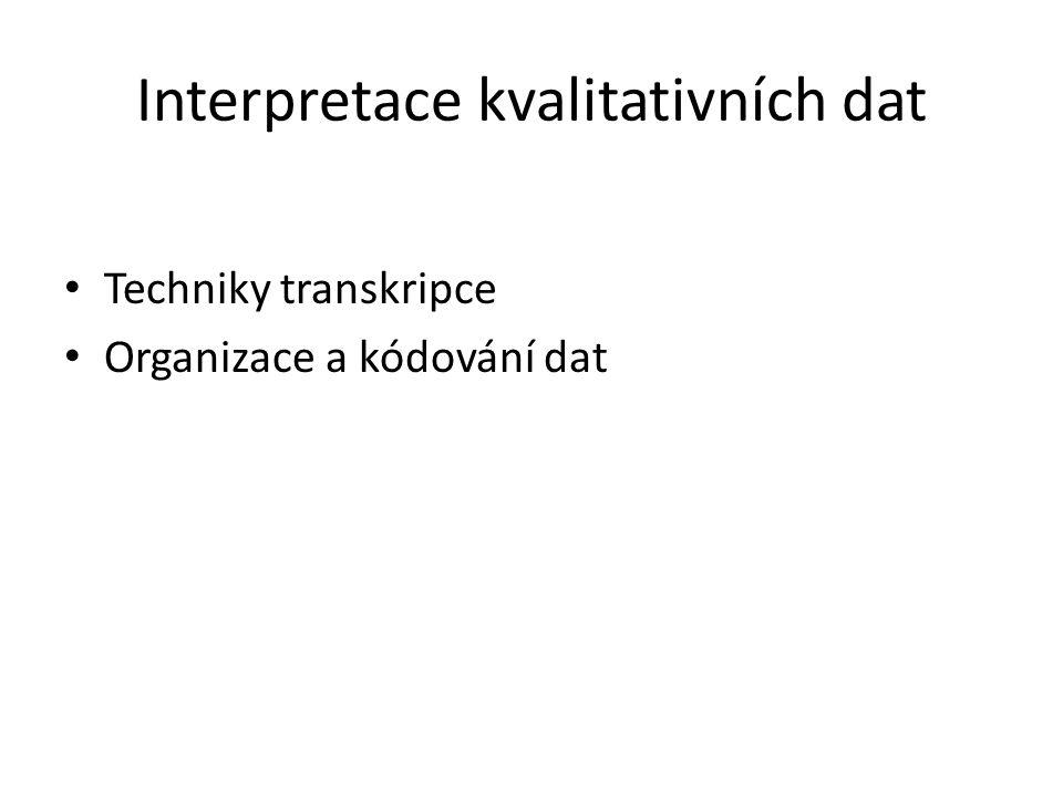 Interpretace kvalitativních dat