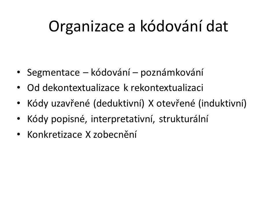 Organizace a kódování dat