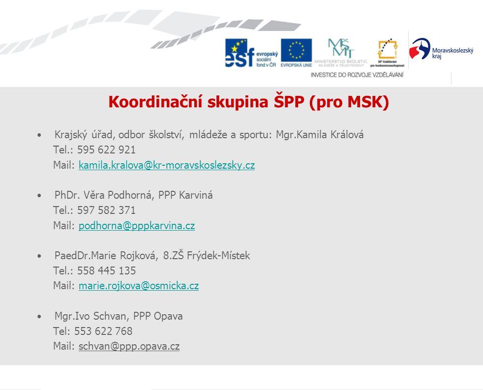 Koordinační skupina ŠPP (pro MSK)