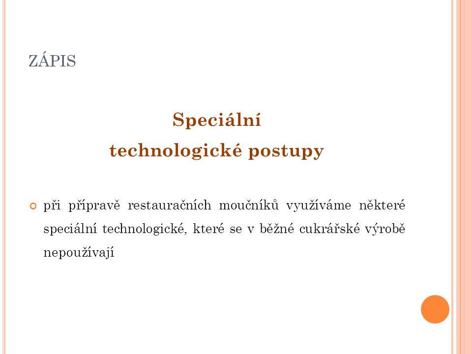technologické postupy
