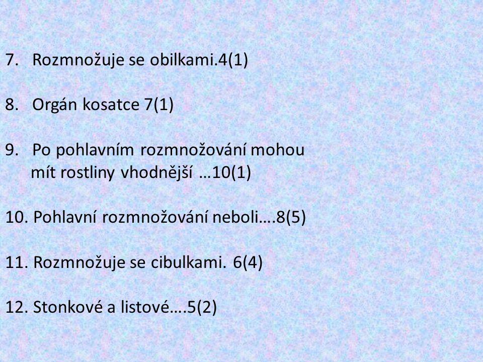 Rozmnožuje se obilkami.4(1)