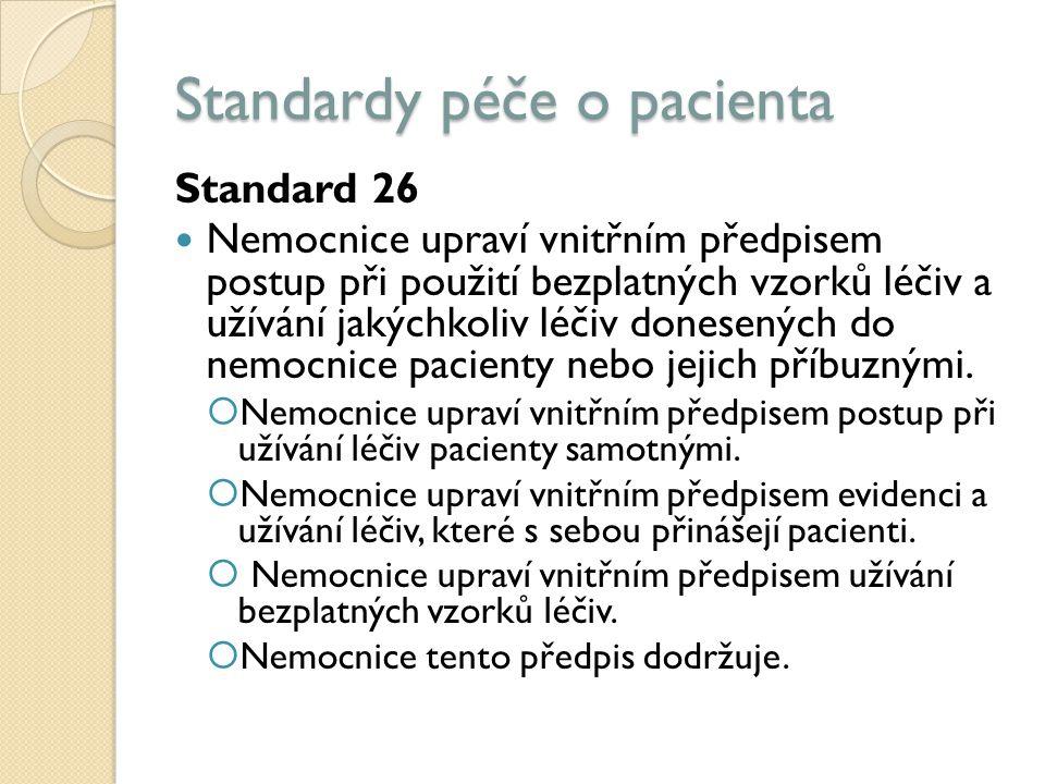 Standardy péče o pacienta