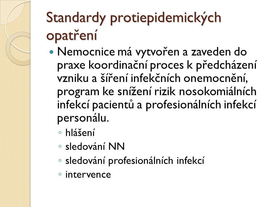 Standardy protiepidemických opatření