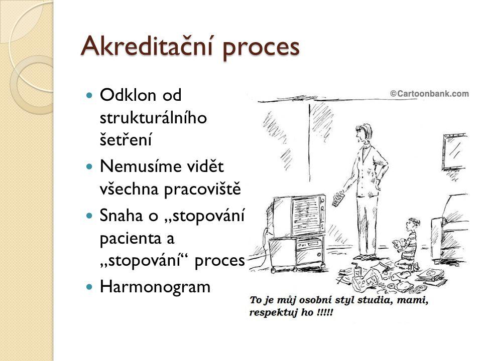 Akreditační proces Odklon od strukturálního šetření