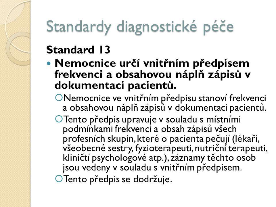 Standardy diagnostické péče